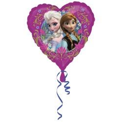 Ballon coeur reine des neiges