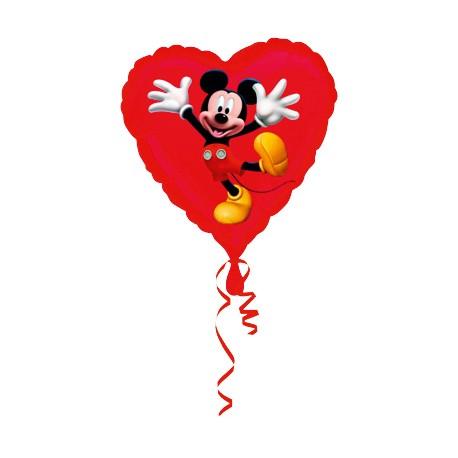 Ballon coeur mickey