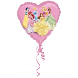 Ballons princesse coeur