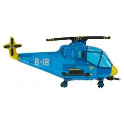 ballon hélicoptère bleu