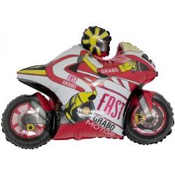 ballon moto rouge