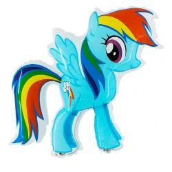 Ballon aluminium pony's